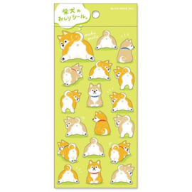 Stickervel Shiba dog