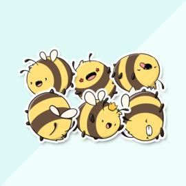 Stickerset - Kawaii Bees - CutieSquad