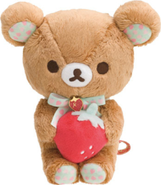 Rilakkuma Strawberry  Plush - 17 cm - Official San-X