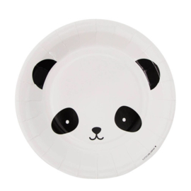Papieren bordjes - panda