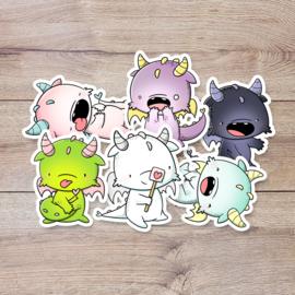 Stickerset - Kawaii Dragons - CutieSquad