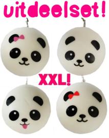 25 x XXL Panda Bun Squishy - Squishies trakteren