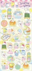 Seal stickersheet San-X Mamegoma Café - Pink