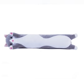Long Kawaii Cat Plush - GREY