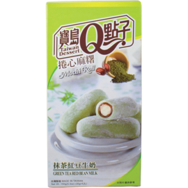 Mochi Rolls Green Tea Red Bean Milk