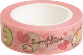 San-X Washi Tape Sumikko Gurashi roze
