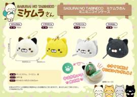 Mini keychain coin purse Yamani Mikemura-san Cat