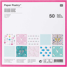 Origami papier 15 x 15 cm - Wonder