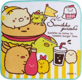 Mini Handtuch 21 x 21 cm Sumikkogurashi Ketchup