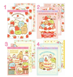 Memoblok klein Sumikkogurashi Strawberry