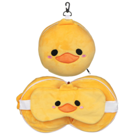 Releaxeazz Plushie Duck travel pillow with sleeping mask