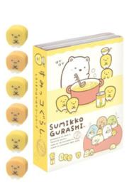 Memoboekje + gum Sumikkogurashi Shirokuma ga Soup