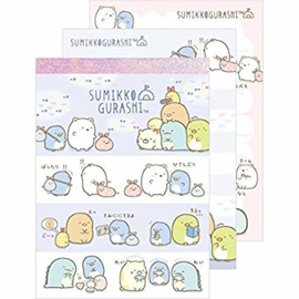 Memopad San-X Sumikkogurashi Northpole Stripes (medium)