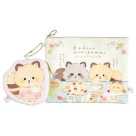 Etui + wallet San-X Kokoro araiguma - Hokkori Ouchi