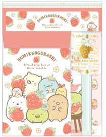 Briefpapierset San-X Sumikkogurashi Strawberry