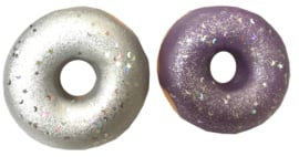 Squishy Puni Maru Disco Donut - Silver or Purple