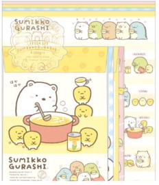 Letter Paper Set San-X Sumikkogurashi Shirokuma ga Soup