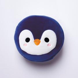 Releaxeazz Plushie Pinguin reiskussen met slaapmasker