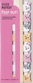 Stickynotes peep-out bunny - Haftnotizen / Index-Streifen