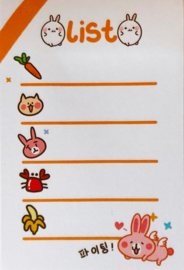 Kawaii Sticky Notes - Bunny List