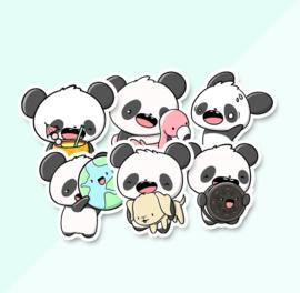 Stickerset -June Pandas - CutieSquad
