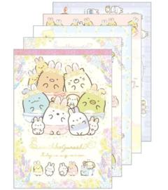 Memopad large San-X Sumikkogurashi - Fushigina Usagi No Oniwa Happy familiy