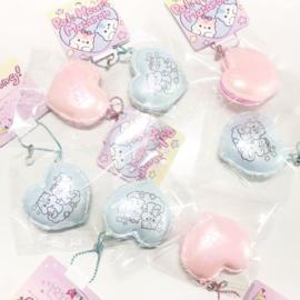 Squishy-Anhänger Poli Heart Pastel Macaron