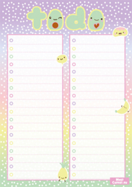 Kawaii Planner A5 Avocado To Do