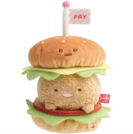 Sumikkogurashi Tonkatsu Set Hamburger - Official San-X Plush