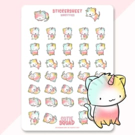 Sticker sheet -Unikitties - CutieSquad