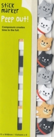 Stickynotes peep-out cats - Haftnotizen / Index-Streifen