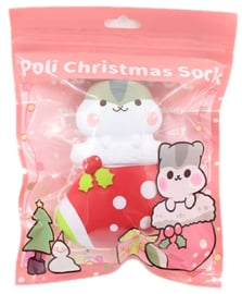 Squishy Poli Christmas Sock