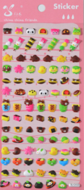 Stickersheet puffy Japan sweets