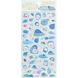 Stickervel PVC San-X Jinbesan fun