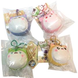 Squishy Mini Fat Fat Poli Hamster Emoji's - pick one