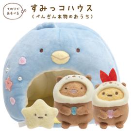 San-X Sumikkogurashi Pengin Iglo plush + mini plushies
