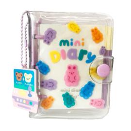 Kawaii mini Daily Planner - Purple - Gummy Bunny