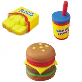 Kutsuwa Eraser Kit DIY Hamburger