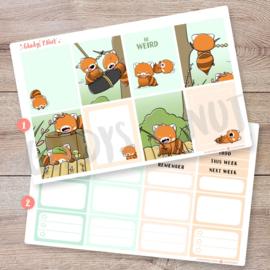 Planner Sticker Kit - Red Pandas - CutieSquad