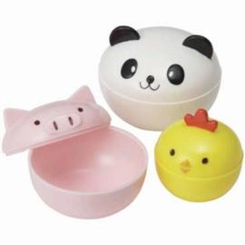 Bento Saus Cups Kawaii Animals