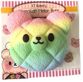 Squishy Bunnys Cafe Kumatan Jumbo Melon Pan - Rainbow