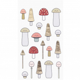 Stickervellen - Kawaii Mushroom