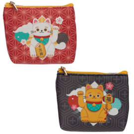 Maneki Neko Lucky Cat PVC Purse