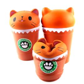 Squishy Kawaii Cat Coffee Cup
