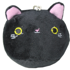 Plushie Kawaii cat - zwart