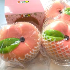 Squishy Puni Maru SUPER humongous peach squishy! (22cm)