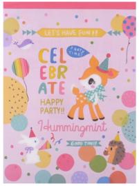 A5 Letterpad (Memo XL) Hummingmint celebrate 48 sheets