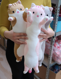 Long Kawaii Cat Plush - PINK - 50 cm