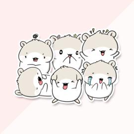 Stickerset - E-MO-TES - CutieSquad