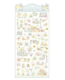 Stickersheet San-X Sumikkogurashi Minikko To Osako - Blue